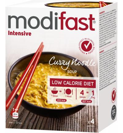 Modifast Intensive Soep Curry Noodles (4 Zakjes) (220g)