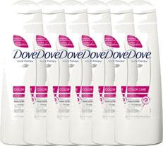Dove Shampoo Color Care Voordeelverpakking 6x250ml