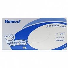 Romed Latex Handschoen Natural Spray Poeder M 100stuks