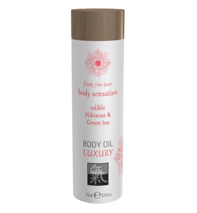 Shiatsu Luxe Eetbare Body Oil - Hibiskus & Groene Thee (75ml)