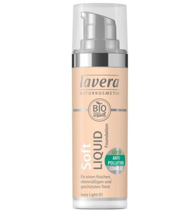 Lavera Foundation Soft Liquid Ivory Light 01 (30ml)